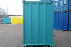 5' Materialcontainer - Lagercontainer / Rückansicht - h+s container GmbH
