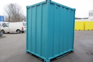 5' Materialcontainer - Lagercontainer / Außenansicht - h+s container GmbH