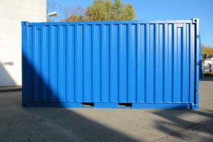 15' Materialcontainer / Seitenwand - h+s container GmbH