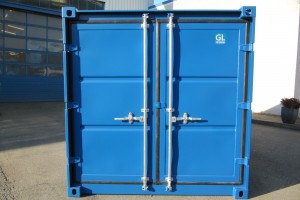 15' Lagercontainer / Stirnseite - Tür - h+s container GmbH