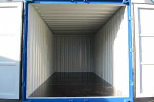 15' Materialcontainer / Innenansicht - h+s container GmbH