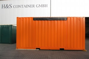 20' Messecontainer - Eventcontainer / Messestand / Rückansicht - h+s container GmbH