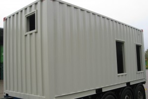 20' High-Cube Aggregatecontainer / Rückansicht - h+s container GmbH